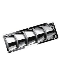 Grille de ventilation inox 3 volets 208x111x40 mm