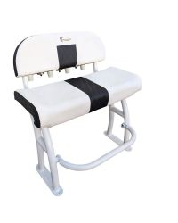 Leaning post Pro series alu blanc + dossier deluxe + assise blanche