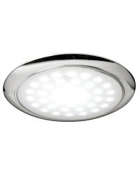 Plafonnier LED ultraplate bague chromée 12/24 V 3W