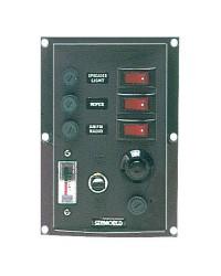 Tableau électrique Light 3 inters + voltmètre