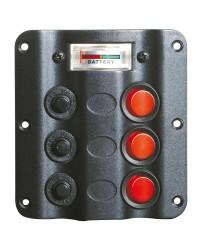 Tableau électrique Wave 3 inters + voltmètre