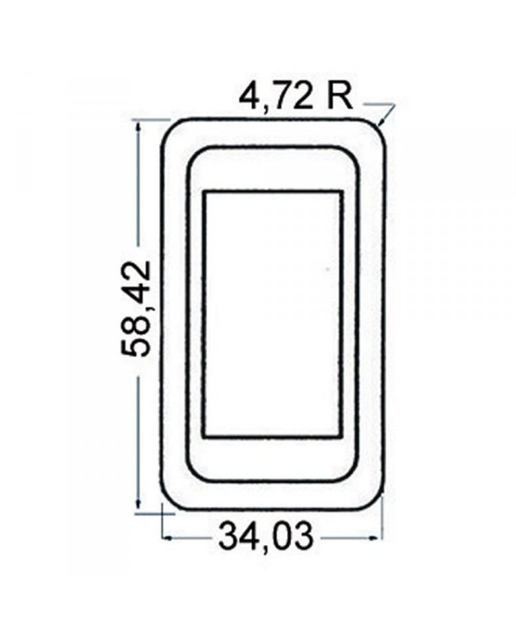 Cadre pour interrupteur à bascule - module unique