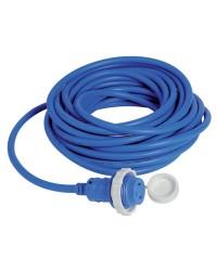Câble avec prise de quai surmoulée 30 A - 10 mètres