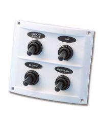 Tableau électrique Pilot - 4 inters - blanc - 110 x 85 mm - En blister