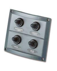 Tableau électrique Pilot - 4 inters - noir - 110 x 85 mm - En blister