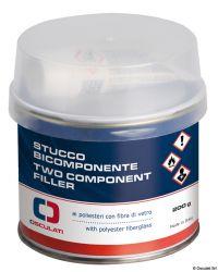 Mastic polyester bicomposant pour reconstruction, incolore - 200 g