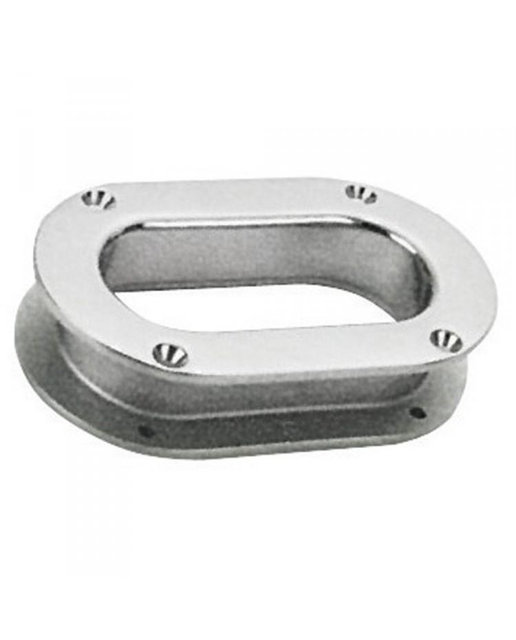 Ecubier ovale - inox - 241 x 146 mm