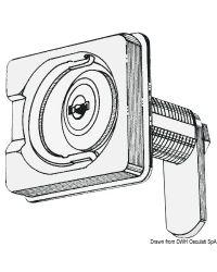 Fermeture tournante inox avec serrure 50x55 mm