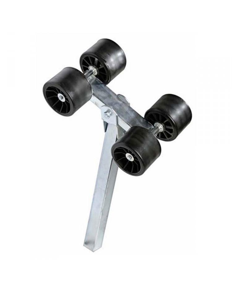 Galet double sur balancier - tube réhaussé de 40 mm
