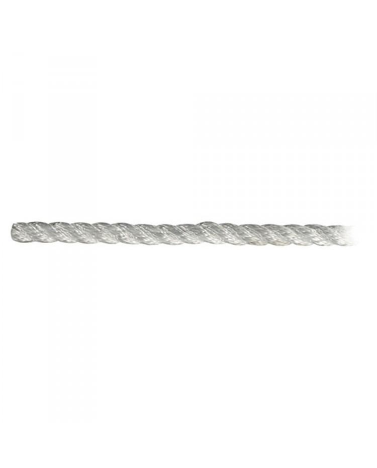 Cordage polyester amarrage 3 torons - blanc - ø8 mm