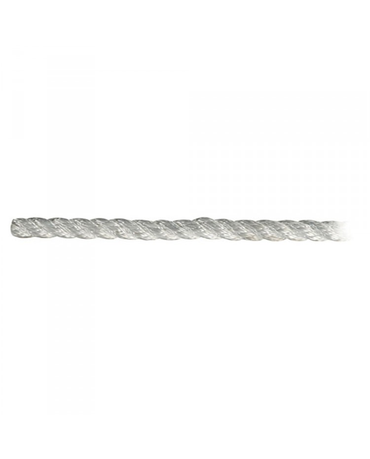 Cordage polyester amarrage 3 torons - blanc - ø14 mm
