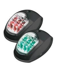 Feu de navigation LED Evoled - pour paroi - noir - rouge 112,5 ° & vert 112,5°