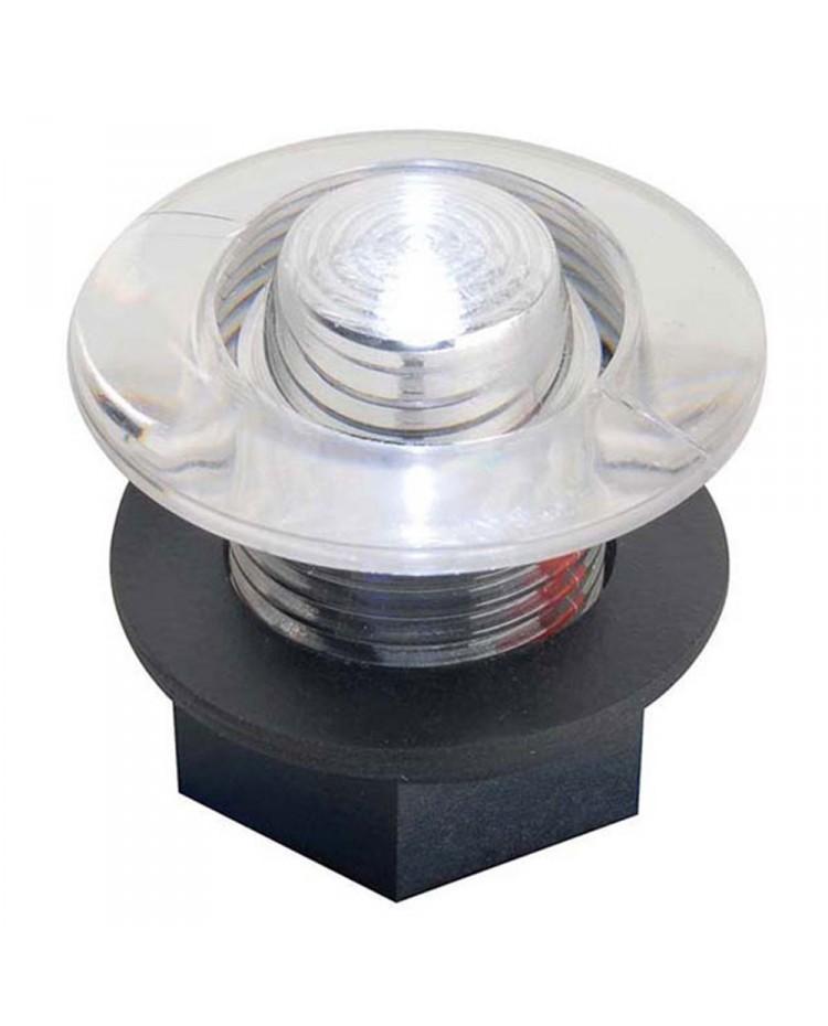 Feu de courtoisie polycarbonate à LED ø38 - 12V - bleu