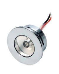 Feu de courtoisie laiton chromé à LED ø32 - 12V - blanc