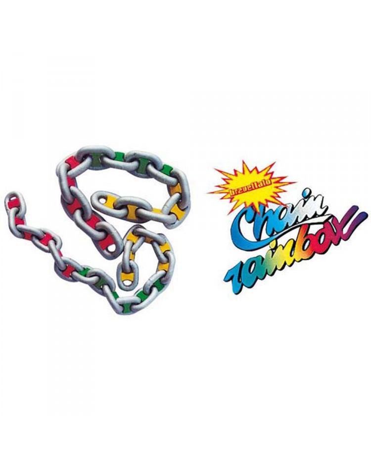Marqueur de chaîne Chain Rainbow - 6 mm - bleu - lot de 14