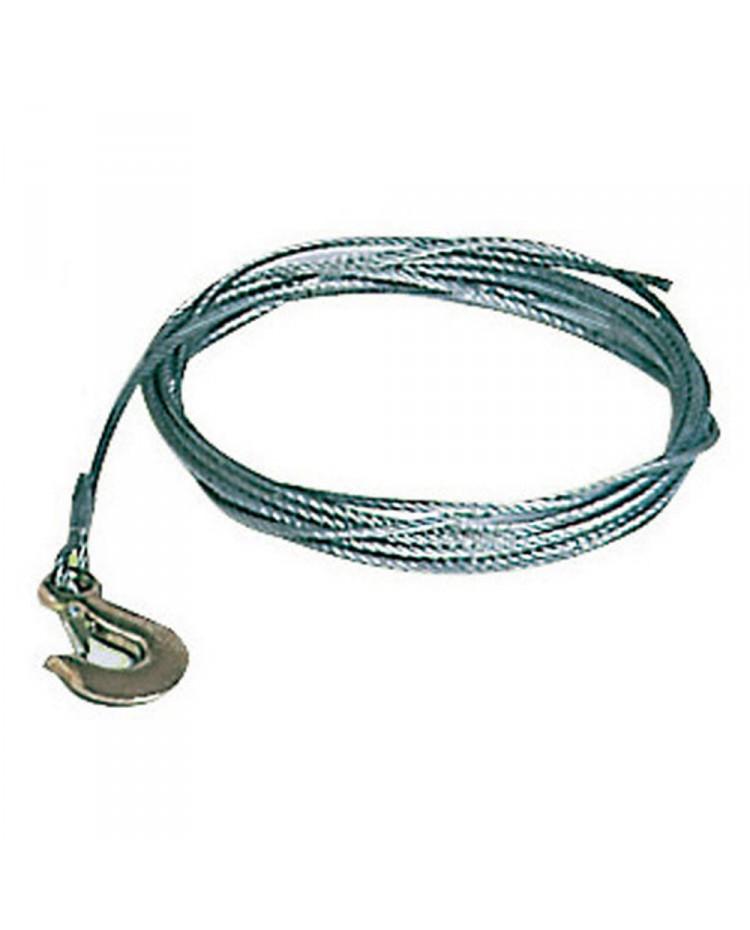 Câble de treuil - acier galva - ø5 mm x 4.5 M