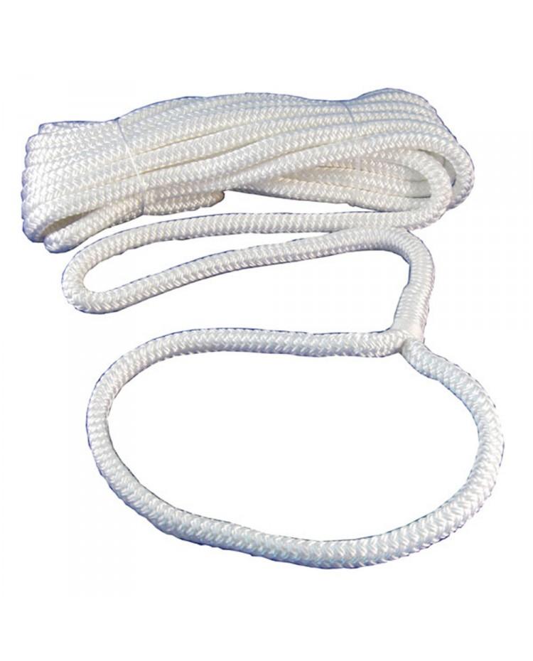 Cordage - amarre avec oeil - ø10 mm - 6 M - blanc