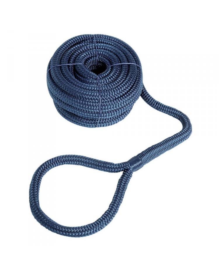 Cordage - amarre avec oeil - ø14 mm - 9 M - bleu