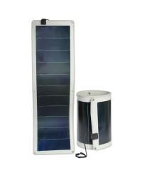 Panneau solaire et support - flexible et pliable - 1416x426