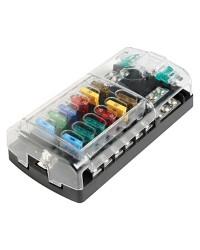 Boîte porte-fusible pour 12 fusibles standard