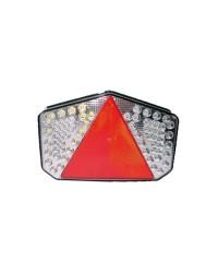 Feu arrière à LED + catadioptre - gauche + éclair. latéral