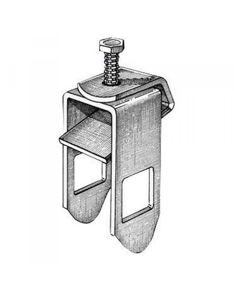 Etrier de fixation pour tube 30 x 30 mm - pour chassis de 50 mm