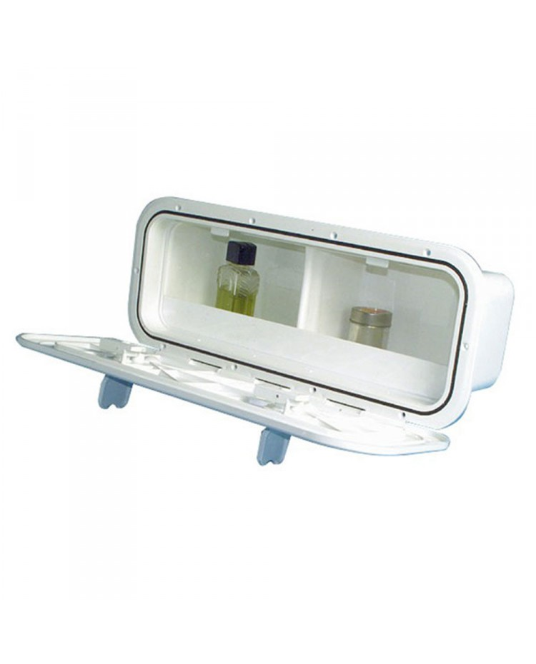 Coffre boite de rangement 650 x 250 mm - 2 compartiments