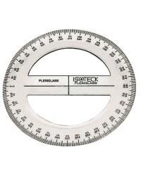 Rapporteur d'angles circulaire plexiglas - Ø 130 mm