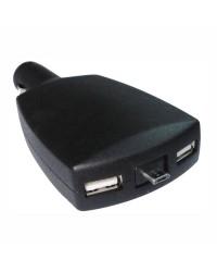 Adaptateur pour USB - double prise USB et micro USB rétractable