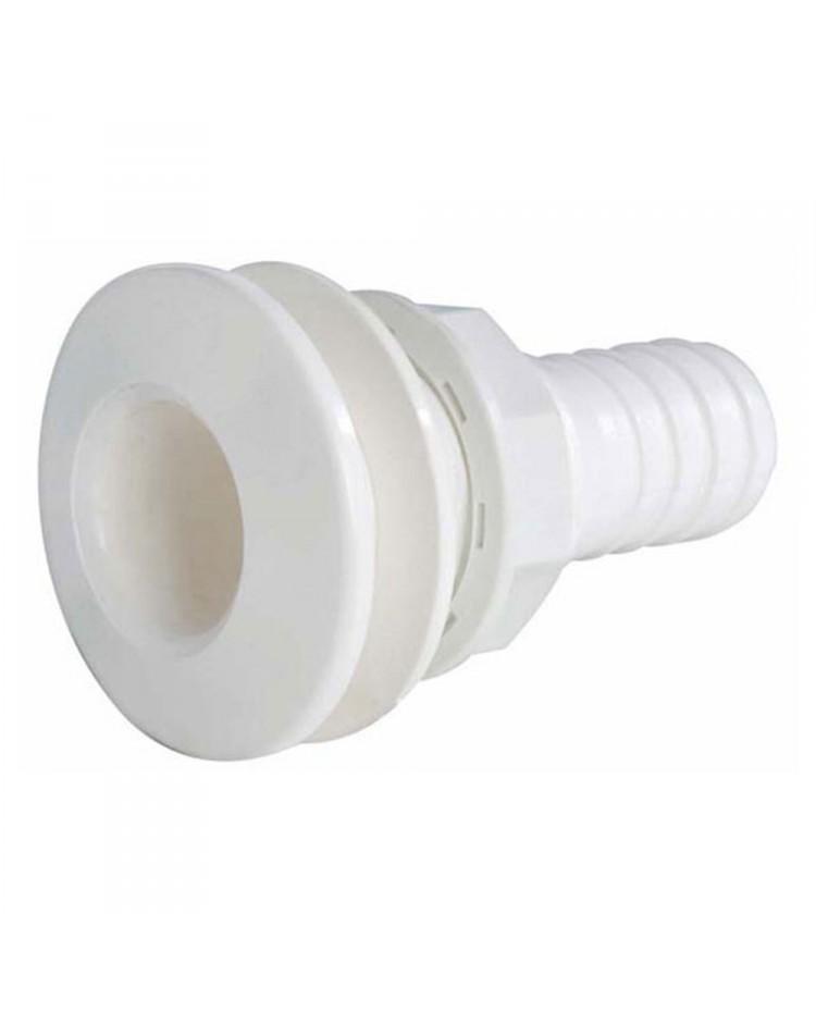 Passe-coque cannelé PVC 3-4'' - ø19 mm