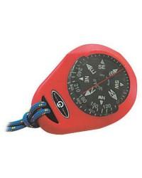 Compas rouge et boitier - bague fixe - 1''7/8