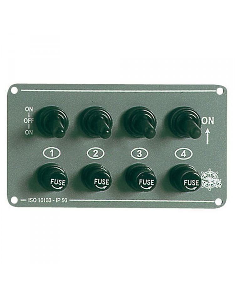 Tableau électrique Grey 4 inters - horizontal