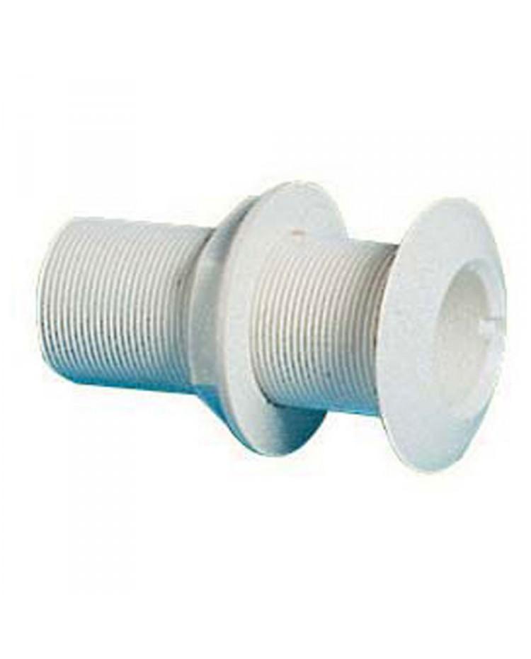Passe-coque fileté PVC - 1''1/2