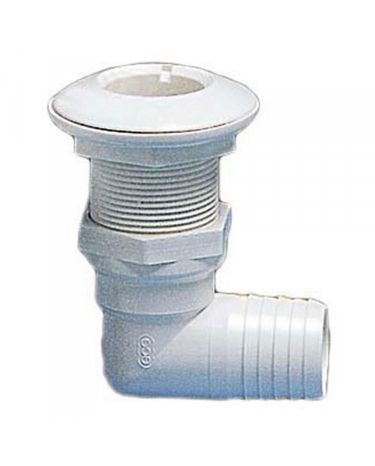 Passe-coque 90° PVC 1''1/2 - ø38 mm