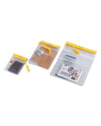 Pochette porte-documents et objets -  étanche - PVC transparent - 127 x 178 mm
