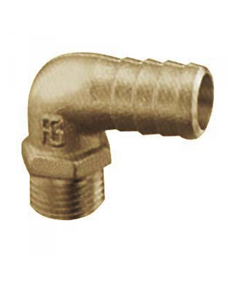 Embout mâle à 90° - 15 mm - 3/8''