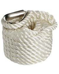 Cordage - bosse d'amarrage - ø12 mm - 9 M - blanc
