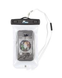 Etui blanc étanche et flottant pour téléphone portable - 13 x 8.5 cm