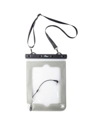 Sacoche grise étanche flottante pour tablette et i-pad  - 9 x 21 cm