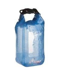 Sac bleu étanche et flottant en PVC - double fenêtre transparente - 1 litre