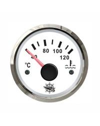 Indicateur de température d'eau - cadran blanc - lunette polie - 12/24V