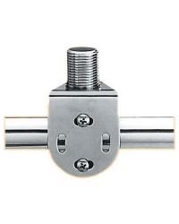 Embase d'antenne VHF inox pour balcon filet tube de 22-25 mm filet tube de 22-25