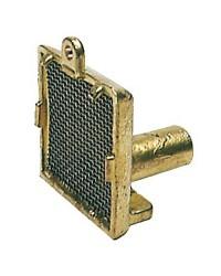 Crépine laiton - base 55x55 mm - sortie verticale