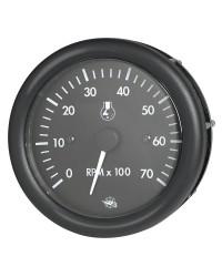 Compte-tours GUARDIAN noir 0-7000 RPM 2 et 4 temps - 12 v