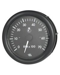 Compte-tours GUARDIAN noir 0-7000 RPM 2 et 4 tps - 12 v+compte heures