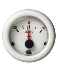 Ampèremètre 30-0-30A - blanc