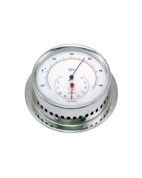 Thermomètre Sky Boitier inox poli - cadran blanc