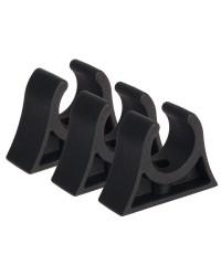 Clips caoutchouc pour tube ø28/30 mm - noir