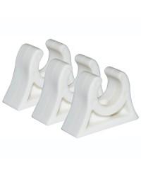 Clips caoutchouc pour tube ø28/30 mm - blanc
