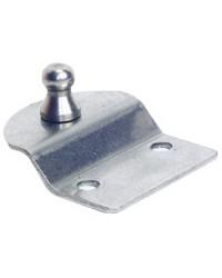 Plaque inox porte-à-faux avec rotule Ø10 mm